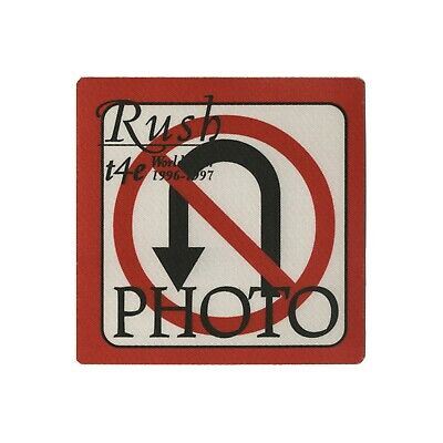 Rush authentic 1996 Test for Echo Tour satin cloth Backstage Pass photo red