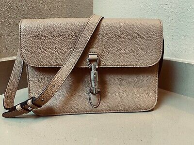 099dfc46585fb GUCCI Jackie Soft BEIGE Leather Flap Shoulder Bag  2