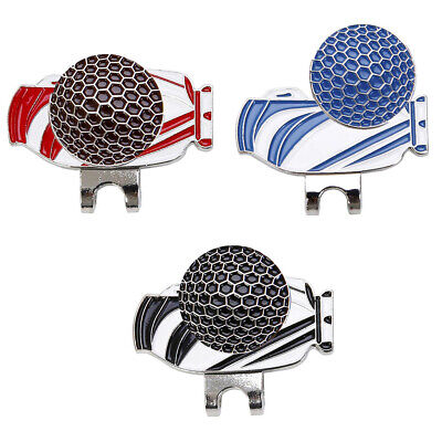 Magnetic Golf Hat Clip with Ball Maker Golf Cap Clip Golf Enthusiast Gift