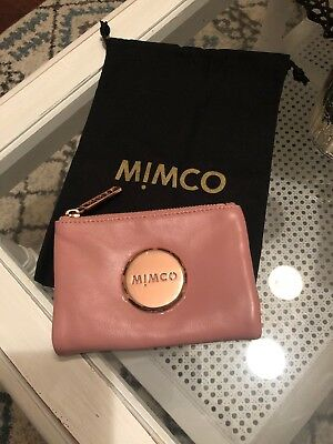 Mimco Leather MIM PETITE FOLD WALLET PURSE BRAND NEW Pink  Rosegold