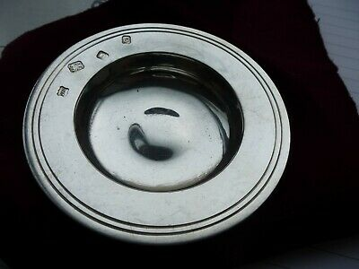Vintage SOLID STERLING SILVER Ashtray - London 1969
