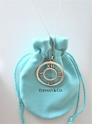 e006efcc1 AUTHENTIC TIFFANY LARGE Atlas Medallion Necklace(Sterling Silver ...
