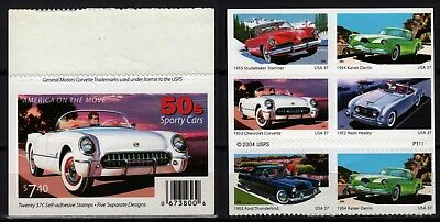 Car, Auto, MiNr.:3959-3963, unmounted mint / never hinged, booklets, 2004, USA
