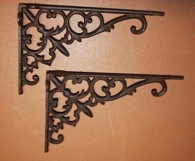 French Victorian Shelf Brackets Braces Supports Cast Iron 9 3/8 inches, B-26