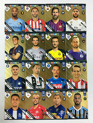 2019 Panini Adrenalyn XL FIFA 365 UPDATE EDITION set of 16 x GOLD CAPTAIN Messi