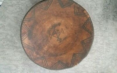 """Extremely Primitive Hand Formed Tribal Pottery Bowl 10 1/4"""" Diameter"""