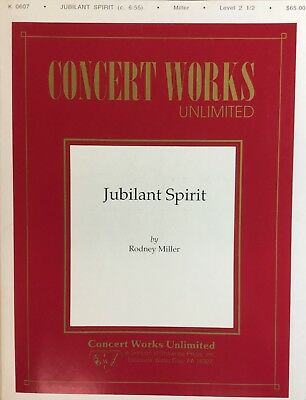 JUBILANT SPIRIT med. easy concert band. Score and parts.