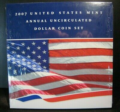 2007 US Mint 6 Coin Annual Unc. Dollar Coin Set w/Eagle ** FREE U.S. SHIPPING **