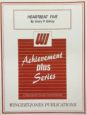 HEARTBEAT FIVE, Med work for young concert band, score and parts