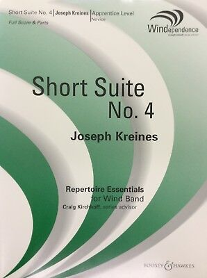 SHORT SUITE NO. 4 for med. easy concert band. Score and parts.