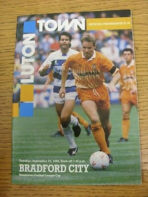 25/09/1990 Luton Town v Bradford City [Football League Cup] . Thanks for viewing