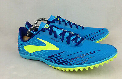 7f70bf54f92cd NEW Brooks Mach 18 Size 13 US Men s Spikeless Cross Country Blue Running  Shoes