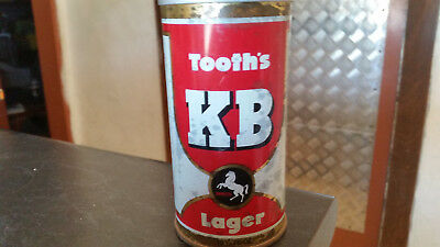 rare vintage tooths kb larger  beer can tin