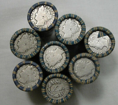 1883-1912 5C Liberty Nickel Roll, Full Roll, 40 Count, Liberty V Nickel, #10426