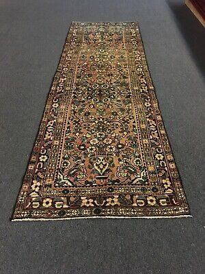 """On Sale Semi Antique Hand Knotted Persian Rug Floral Runner Carpet,3'3""""x9'11"""""""