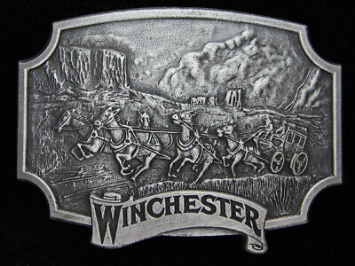 Qc05175 *Nos* Vintage 1975 **Winchester** Gun & Firearm Company Pewter Buckle