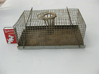 """Vintage MOUSE CAGE TRAP HUMANE """"catch and release"""" Trap farm house rodent"""