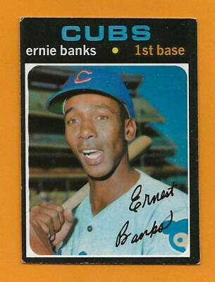 1971 OPC O-Pee-Chee #525 Ernie Banks Chicago Cubs  Ex  ++