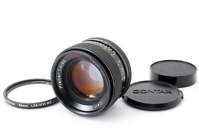 【Excellent++++】CONTAX Carl Zeiss T* Planar 50mm F1.4 MMJ Lens from Japan 371546