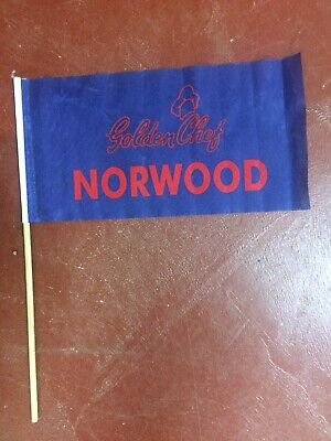 Norwood Football Club SANFL Redlegs Golden Chef Supporter Flag Pennant
