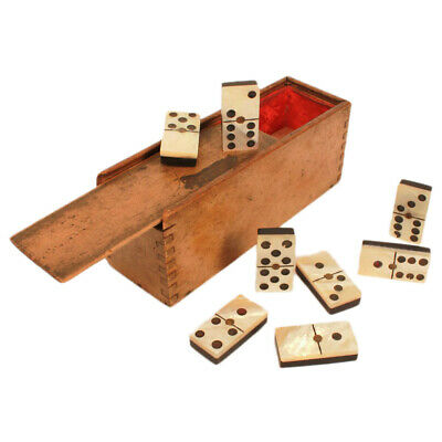 Rare Antique Mother of Pearl & Ebony Dominoes c. Late 19th Century