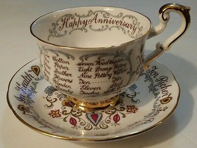 Paragon Anniversary Teacup and Saucer For Better or For Worse