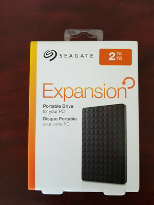 New Seagate Expansion 2TB Portable Hard Drive