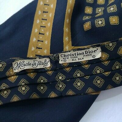 13480a77595b CHRISTIAN DIOR MEN Tie Large 100% Silk Made In Italy 118cm/ 15cm ...