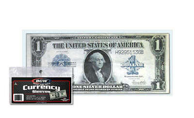 10 Large Dollar Bill Currency Sleeves - Money Holders - Protectors #01