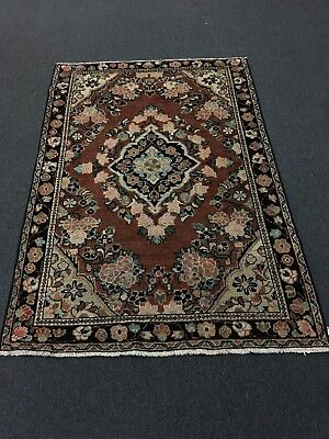 """Sale Antique Traditional Hand Knotted Persian Mahal,flora rug,Carpet 4'4""""x6'5"""""""