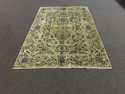 """S.antique Beautiful Hand Knotted Kashann Persian Rug Floral Carpet 4'9""""x7'4"""""""