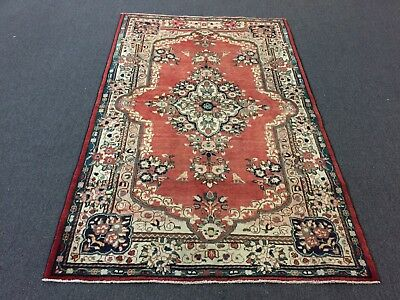 """On Sale Semi Antique Traditional Hand Knotted Persian Mahal Rug Carpet 4'3""""x6'8"""""""