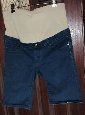 Jeans West Jeanwest Cotton Polyester Viscose Elastane Maternity Shorts Size 12