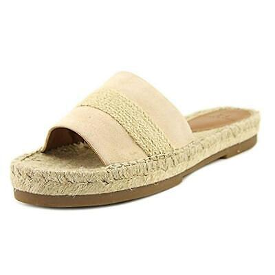 ff967a5116d5 H Halston Womens Betty Beige Suede Flat Sandals Shoes 7 Medium (B