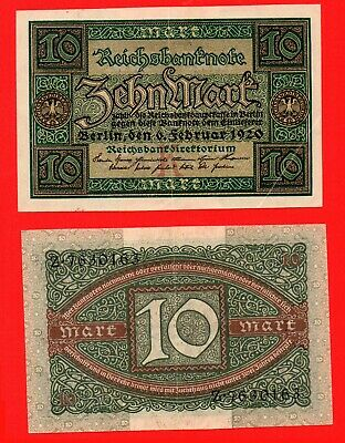 Germany 1920 10 mark banknote