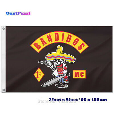 motorcycle club Bandidos 90х135 cm Garden flag banner on fabric of int