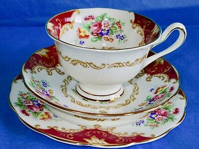 Royal Albert CANTERBURY Cup & Saucer with  Bread & Butter Plate Trio