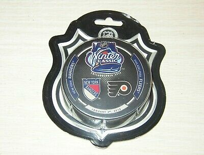 NHL 2012 Winter Classic Souvenir Puck - Flyers vs. Rangers