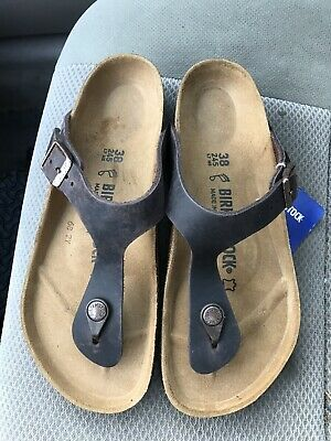 580c1c7d2f0a Women s new Birkenstock Gizeh Habana Brown leather thong sandals size 7 R    38