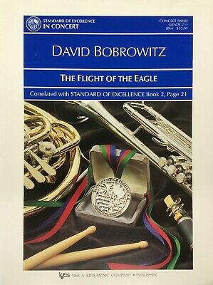 THE FLIGHT OF THE EAGLE for Med. Easy  concert band. Score and parts.