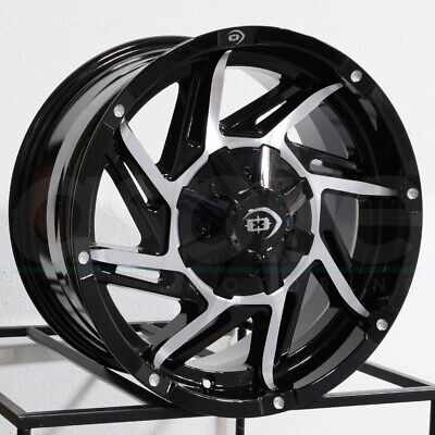One 17x9 Vision 422 Prowler 6x135 -12 Black Machined Wheels Rims