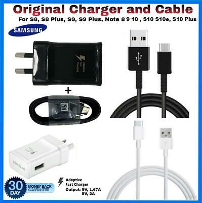 SAMSUNG Genuine 9V  Fast Adaptive AC Wall Charger For Galaxy  S8 S9 S 10 10 Plus