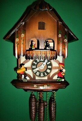 Vintage Classic SCHMECKENBECHER Musical Cuckoo clock #67-*Free USA Shipping!*