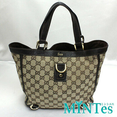 8cf1b1d58 [Gucci] GG canvas Tote Bag 130739 Beige Brown Gucci