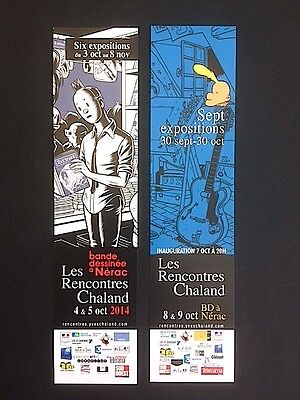 Rencontres YVES CHALAND Nerac - Lot de 2 marque pages Charles Burns, Zep, Titeuf