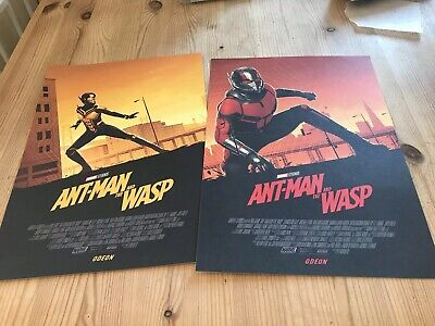 Ant Man And The Wasp Poster X 2,  Brand New, Odeon Marvel Comics, Avengers