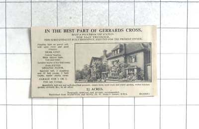 1935 Half A Mile From Gerard's Cross Station 10 Bedrooms On 2 Acres For Sale
