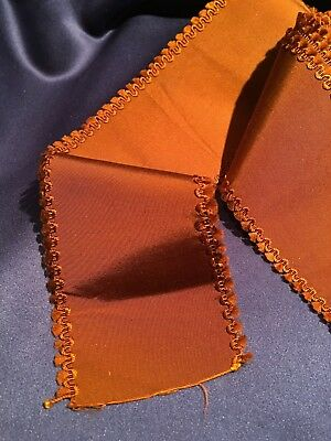 "Beautiful Victorian Silk Copper Grosgrain Ribbon Fancy Edge 3"" x 90"""