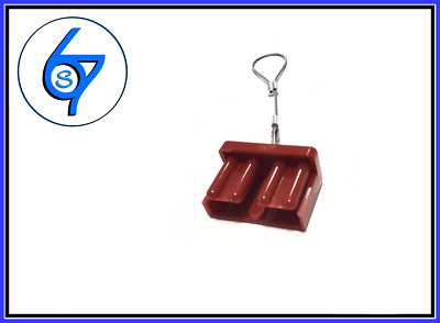 RED PUSH ON DUST CAP COVER ANDERSON PLUG 50 AMP DUAL BATTERY 50a
