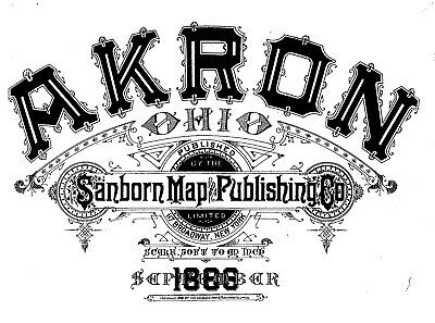 Akron, Ohio~Sanborn Map© sheets~with 25 maps on CD~from microfilm reel